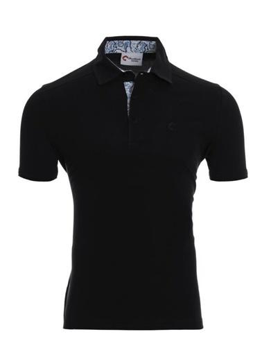 Panthzer  Toluca Erkek  Polo T-Shirt Siyah